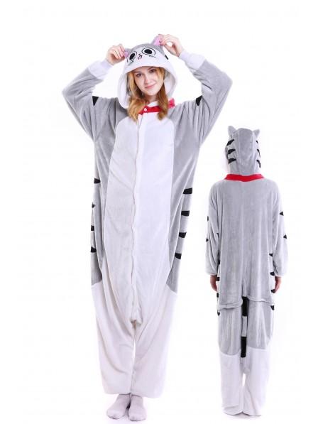 Cheese Cat Kigurumi Onesie Pajamas Soft Flannel Unisex Animal Costumes