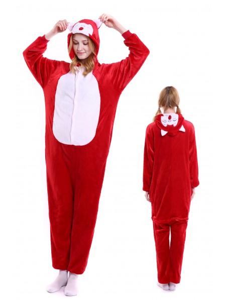 Ali Fox Kigurumi Onesie Pajamas Soft Flannel Unisex Animal Costumes