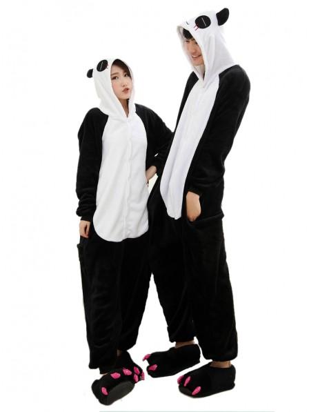Pandas Kigurumi Onesie Pajamas Soft Flannel Unisex Animal Costumes