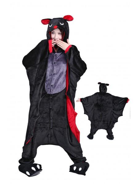 Bat Kigurumi Onesie Pajamas Soft Flannel Unisex Animal Costumes
