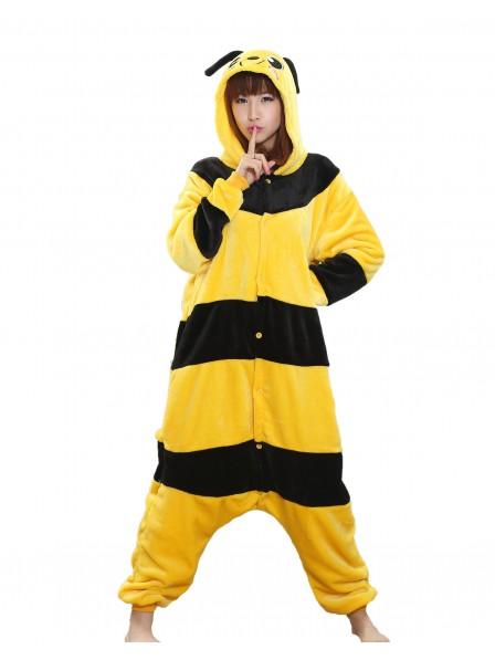 Bees Kigurumi Onesie Pajamas Soft Flannel Unisex Animal Costumes