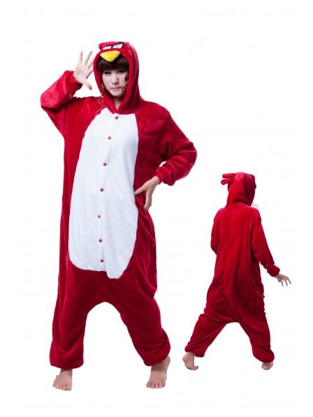 Angry Bird Kigurumi Onesie Pajamas Soft Flannel Unisex Animal Costumes