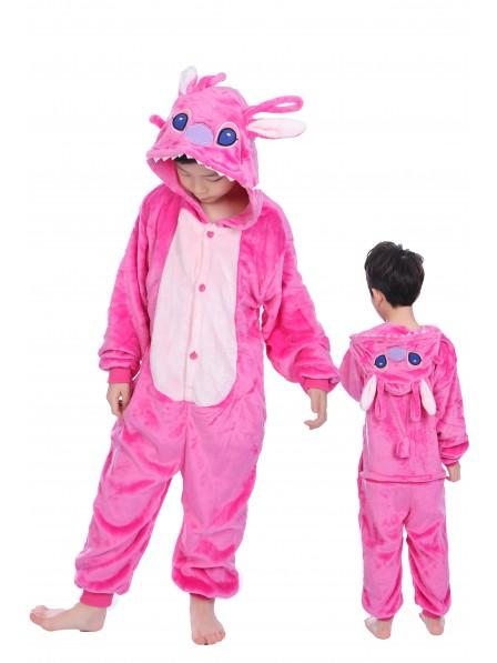 Pink Stitch Anagel Onesie Kigurumi Pajamas Kids Animal Costumes For Teens