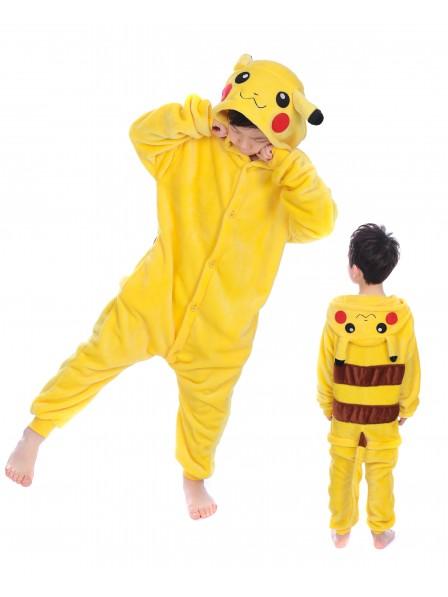 Pikachu Onesie Kigurumi Pajamas Kids Animal Costumes For Teens