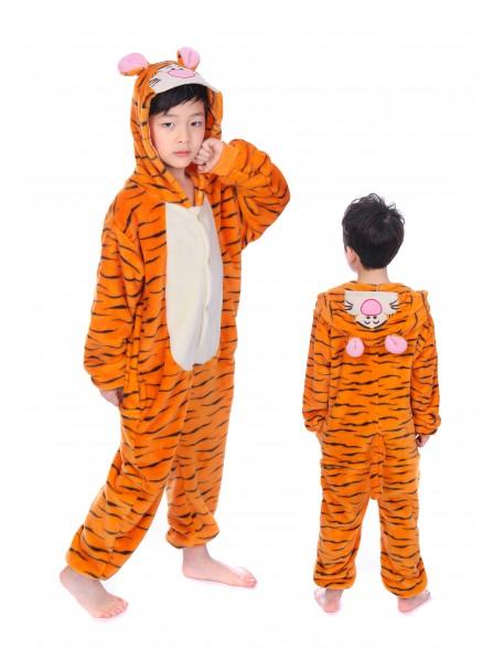 Winnie the Pooh Tigger Onesie Kigurumi Pajamas Kids Animal Costumes For Teens
