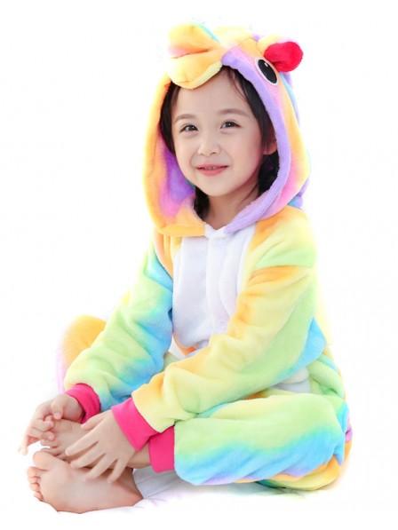 Rainbow Unicorn Onesie Kigurumi Pajamas Kids Animal Costumes For Teens