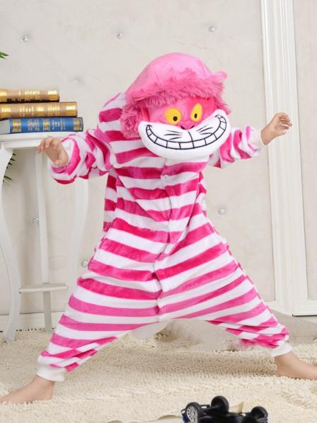 Cheshire Cat Onesie Kigurumi Pajamas Kids Animal Costumes For Teens