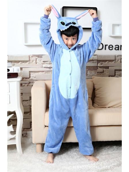 Blue Stitch Onesie Kigurumi Pajamas Kids Animal Costumes For Teens