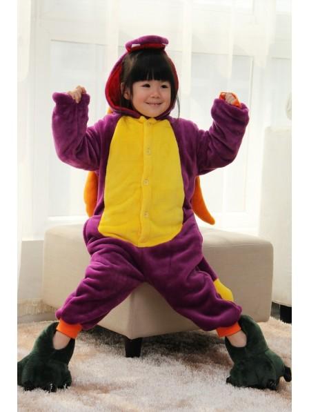 Purple Dragon Onesie Kigurumi Pajamas Kids Animal Costumes For Teens