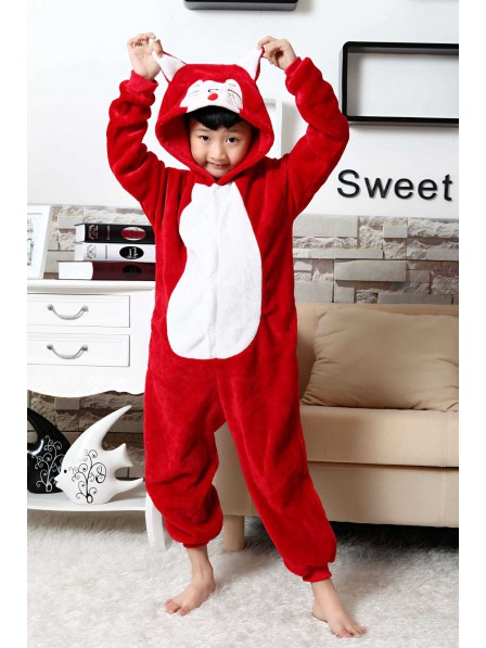 Red Fox Onesie Kigurumi Pajamas Kids Animal Costumes For Teens