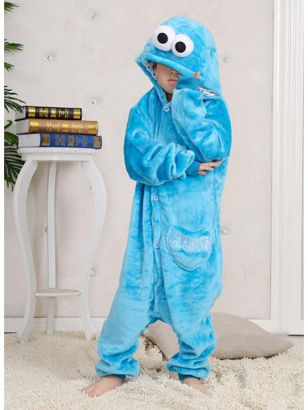 Sesame Street Cookie Monster Onesie Kigurumi Pajamas Kids Animal Costumes For Teens