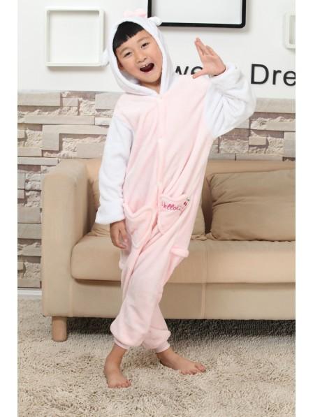 Kitty Cat Onesie Kigurumi Pajamas Kids Animal Costumes For Teens
