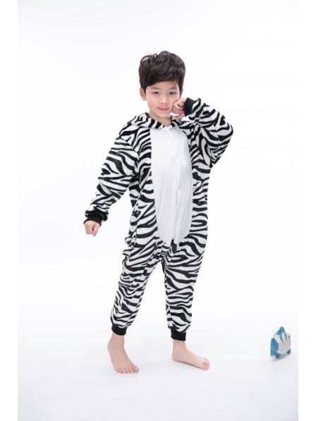 Zebra Onesie Kigurumi Pajamas Kids Animal Costumes For Teens
