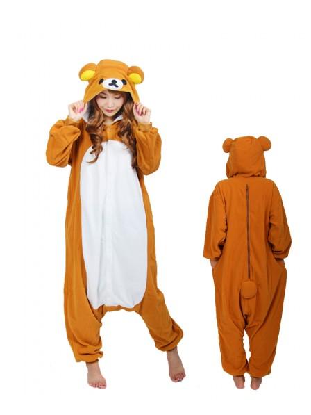 Rilakkuma Kigurumi Onesie Pajama Animal Unisex Costumes
