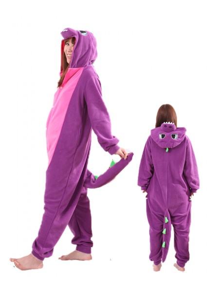Purple Dragon Kigurumi Onesie Pajamas Animal Unisex Costumes