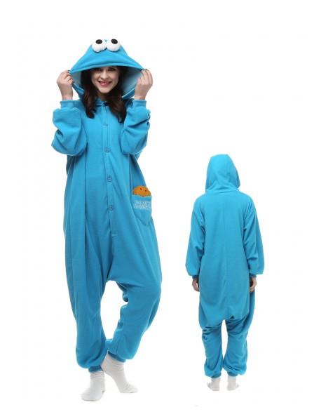 Cookies Monster Kigurumi Onesie Pajamas Animal Unisex Costumes