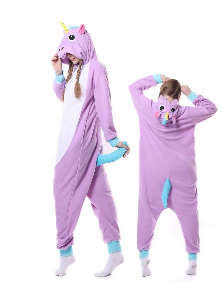 New Purple Unicorn Kigurumi Onesie Pajamas Animal Unisex Costumes