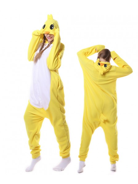 Yellow Duck Kigurumi Onesie Pajamas Animal Unisex Costumes