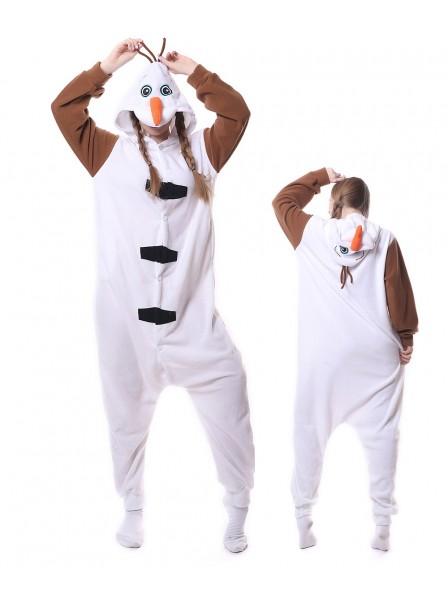 Olaf Kigurumi Onesie Pajamas Animal Unisex Costumes