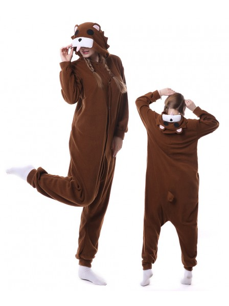 Brown Bear Kigurumi Onesie Pajamas Animal Unisex Costumes