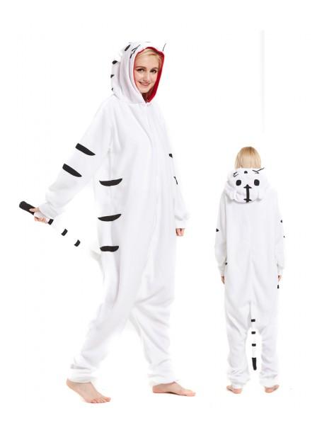 White Tiger Kigurumi Onesie Pajamas Animal Unisex Costumes