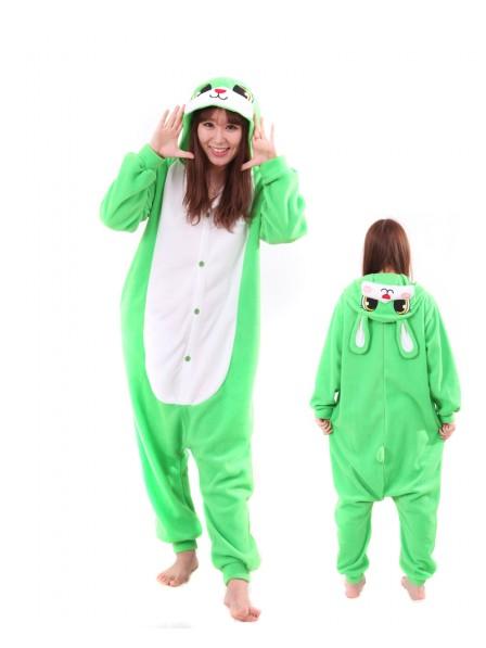 Green Bunny Kigurumi Onesie Pajamas Animal Unisex Costumes