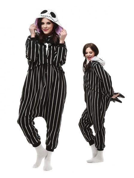 Jack Skellington Kigurumi Onesie Pajamas Polar Fleece Animal Unisex Costumes
