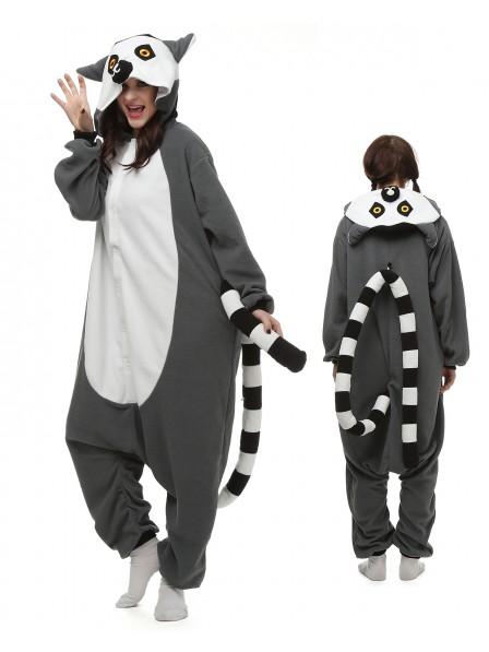 Lemur Kigurumi Onesie Pajamas Polar Fleece Animal Unisex Costumes