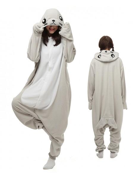 Seal Kigurumi Onesie Pajamas Polar Fleece Animal Unisex Costumes