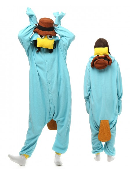 Platypus Kigurumi Onesie Pajamas Polar Fleece Animal Unisex Costumes