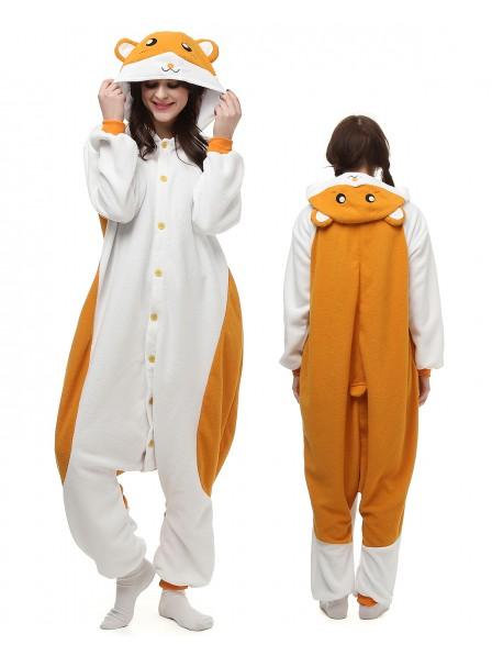 Hamster Kigurumi Onesie Pajamas Polar Fleece Animal Unisex Costumes