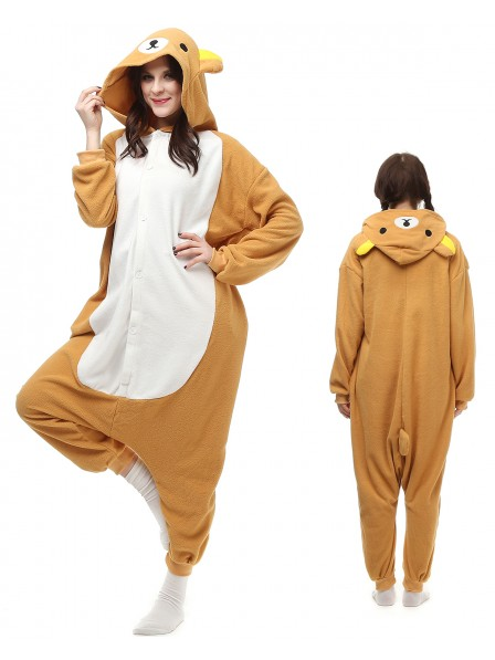 Rilakkuma Kigurumi Onesie Pajamas Polar Fleece Animal Unisex Costumes