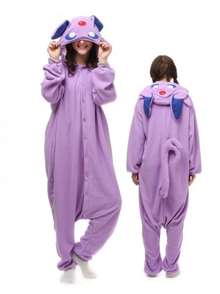 Purple Monster Kigurumi Onesie Pajamas Polar Fleece Animal Unisex Costumes