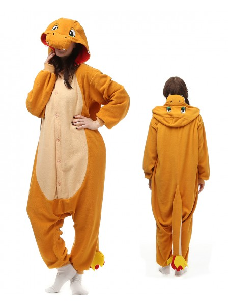 Charmander Kigurumi Onesie Pajamas Polar Fleece Animal Unisex Costumes