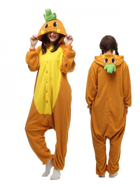 Carrot Kigurumi Onesie Pajamas Polar Fleece Animal Unisex Costumes