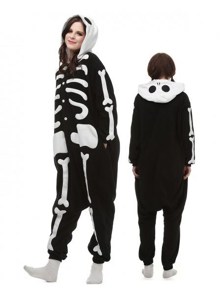 Skeleton Kigurumi Onesie Pajamas Polar Fleece Animal Unisex Costumes