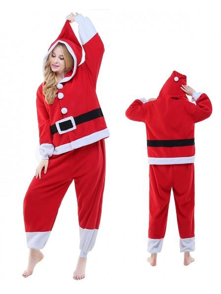Santa Kigurumi Onesie Pajamas Polar Fleece Animal Unisex Costumes