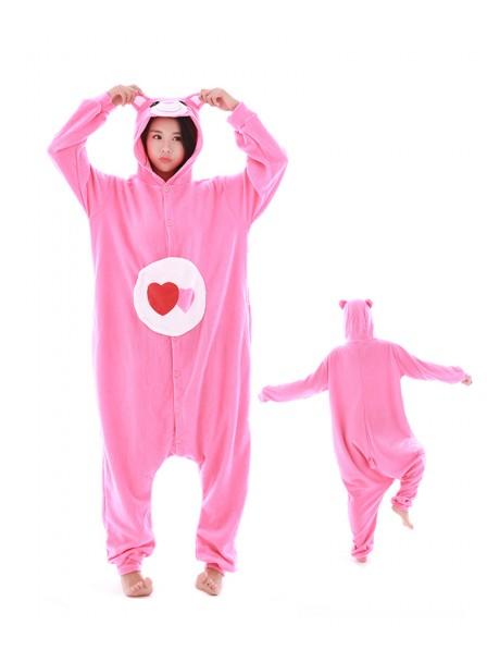Love Bear Kigurumi Onesie Pajamas Polar Fleece Animal Unisex Costumes