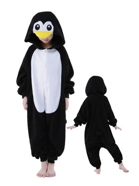 Penguin Onesie Kids Kigurumi Polar Fleece Animal Costumes For Teens