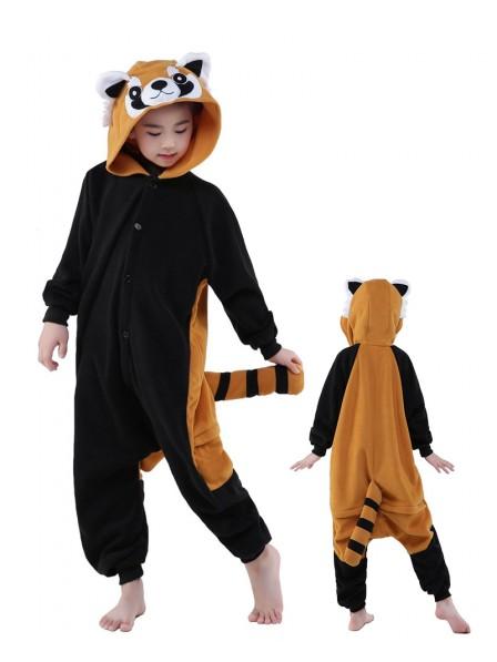 Red Panda Onesie Kids Kigurumi Polar Fleece Animal Costumes For Teens