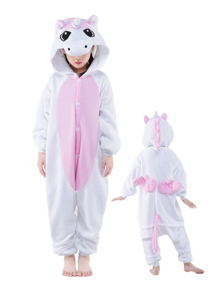 Pink Unicorn Onesie Kids Kigurumi Polar Fleece Animal Costumes For Teens
